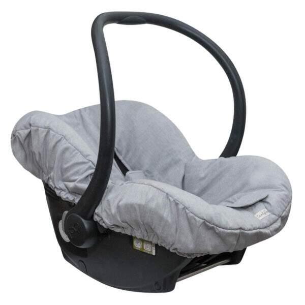 capa bebê conforto universal cinza