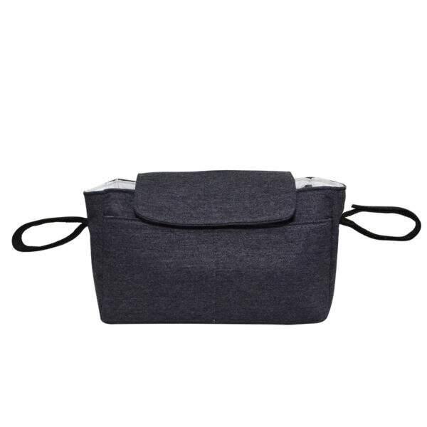 bolsa para carrinho moleton cinza azulado